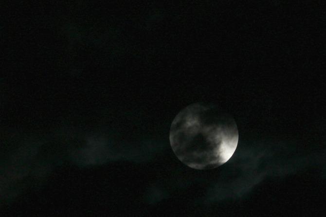 la ultima LUNA del año (muy nublado )